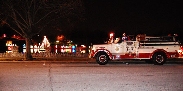 Fire Truck with Santa & Caroling
