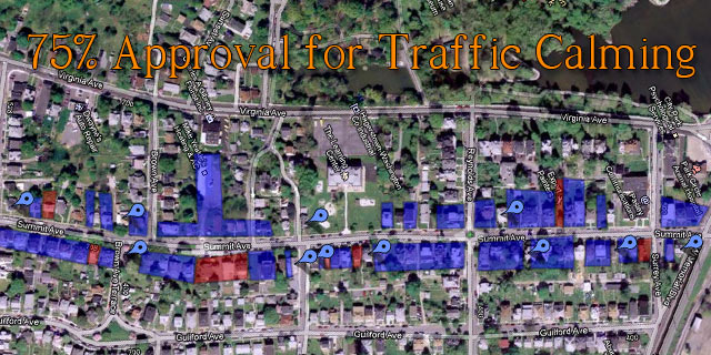 Goal Reached! 75% Community Support for Traffic Calming devices!