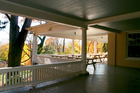 The mansion's wrap around porch.